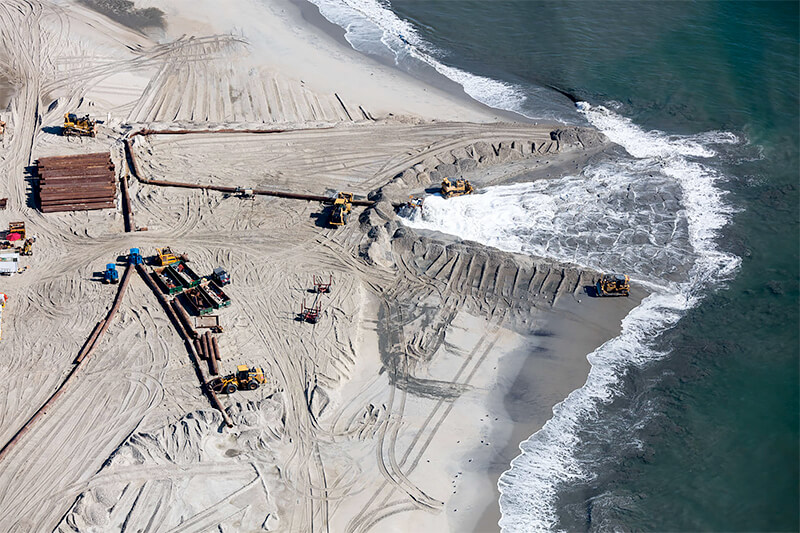 Beach Sand Nourishment Coming From Offshore, Howell, New Jersey 2018<p>© Alex MacLean</p>