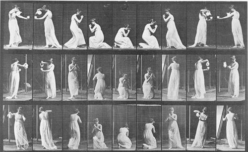 Eadweard Muybridge - Animal Locomotion, Woman pouring water, 1887