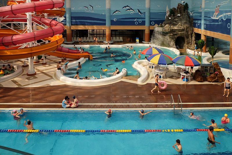 Fabian Muir - Blue Lane #1 (Munsu Water Park, Pyongyang, North Korea), 2015
