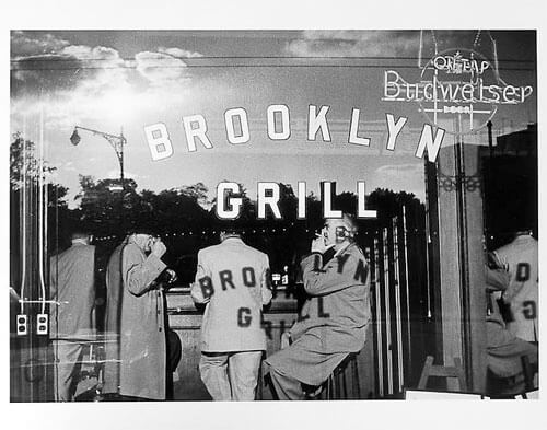 Jay Maisel - Brooklyn grill, exterior view mid 1950s