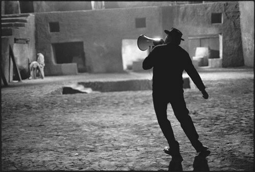 Mary Ellen Mark - Director Federico Fellini surveys the elaborate set of Satyricon (1969) in Rome