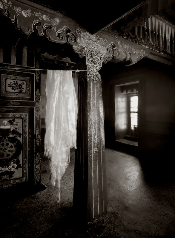 Interior, Hanging Prayer Scarves (Khana) Potala Palace, Lhasa, Tibet 2006<p>© Richard Murai</p>