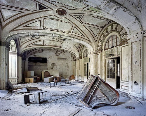 Yves Marchand & Romain Meffre - Ballroom, Lee Plaza Hotel, The ruins of Detroit 2006