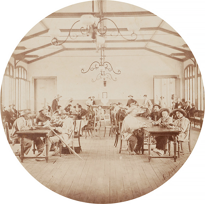 Charles Nègre - Recreation Hall (or Salon de Cafe), Vincennes Imperial Asylum 1859