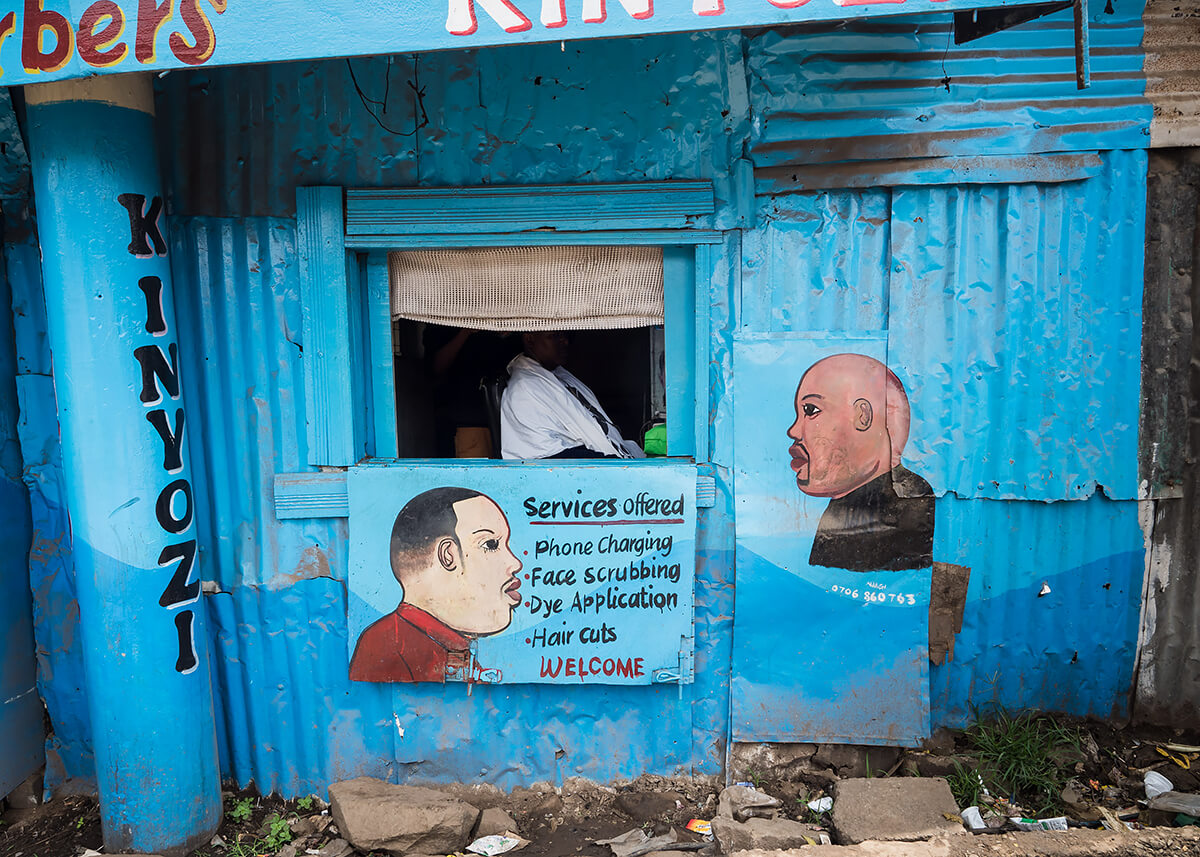 Kinyozi Barbers, Mathare<p>© Betty Press</p>