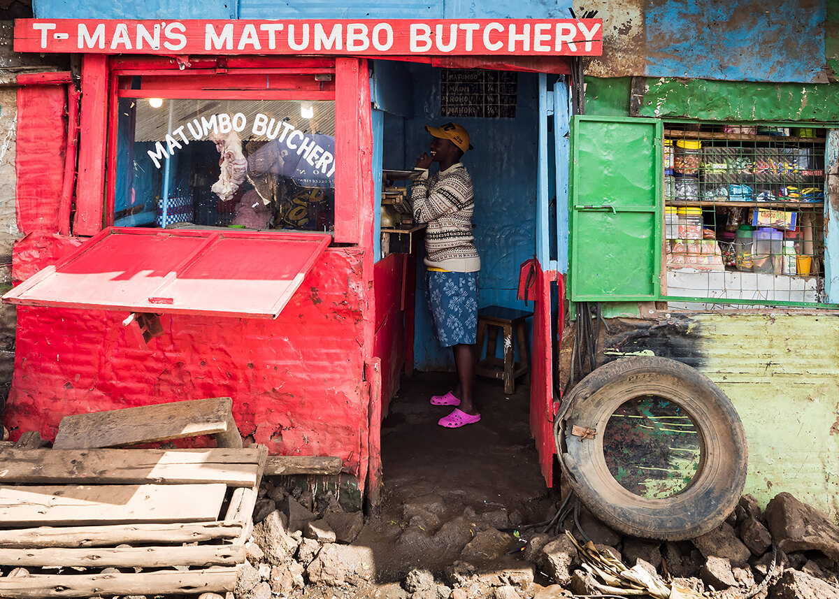 T-Mans Matumbo (Stomach) Butchery, Kibera<p>© Betty Press</p>