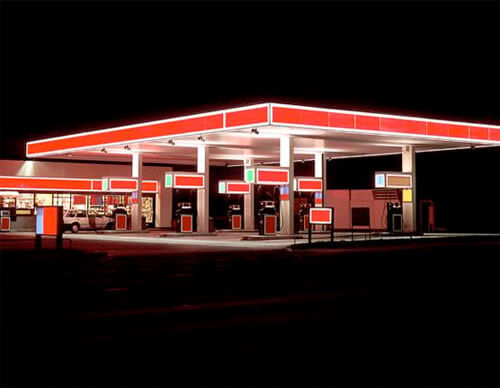 Rot - Gas Station Series, 1998<p>© Ralf Peters</p>