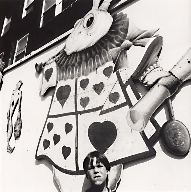 Boy with Picture of Alice's Rabbit in Rockaway Playland, Queens, NY 1970<p>© Arthur Tress</p>