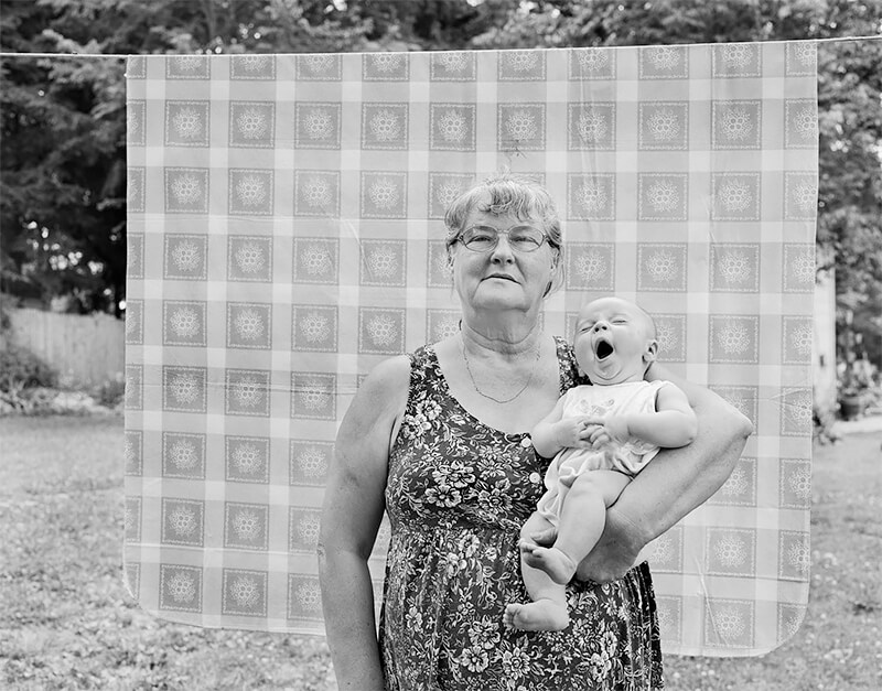 Beverly Lemmon holding great granddaughter, Elizabeth Dunn, Norton OH, 2001<p>© Joe Vitone</p>