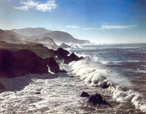 Surf and Headlands, California 1958<p>© Cole Weston</p>