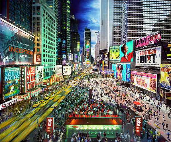 Day to Night, Times Square, New York City 2010<p>© Stephen Wilkes</p>
