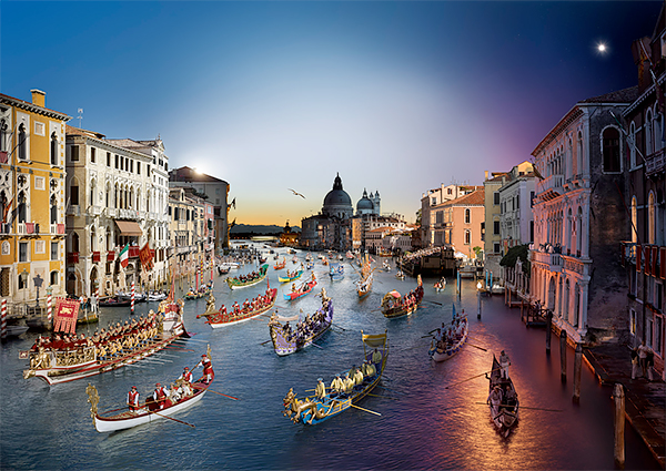 Stephen Wilkes - Day to Night, Regata Storica, Venice, Italy 2015