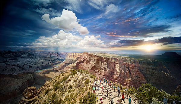 Day to Night, Grand Canyon National Park, Arizona, 2015<p>© Stephen Wilkes</p>