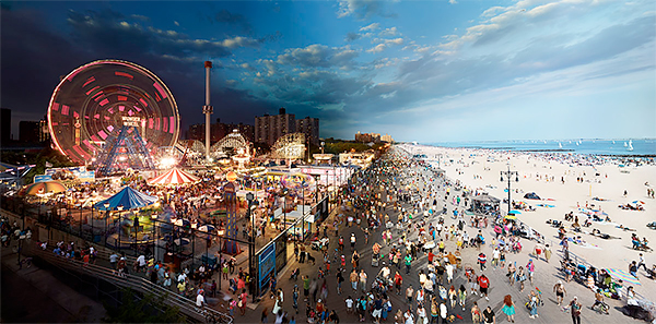 Stephen Wilkes - Day to Night, Coney Island, New York 2011