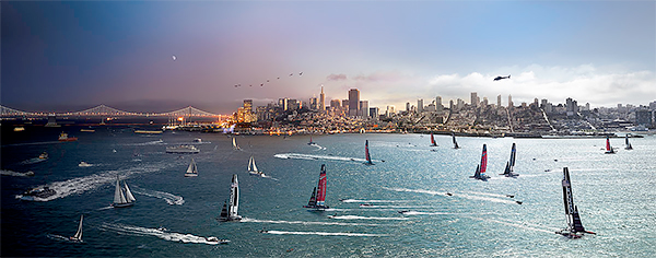 Day to Night, America's Cup, San Francisco 2013<p>© Stephen Wilkes</p>