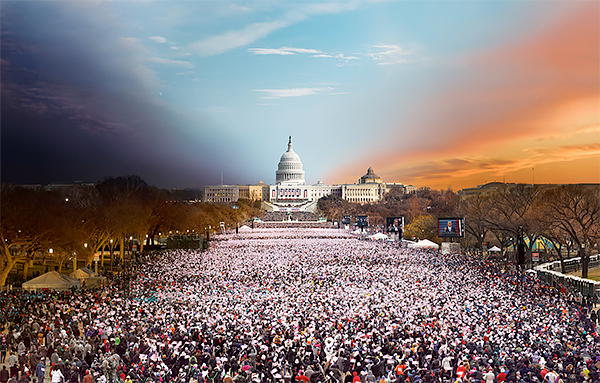 Day to Night, Inauguration, Washington D.C. 2014<p>© Stephen Wilkes</p>