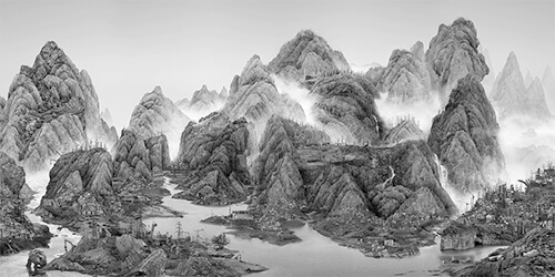 Yang Yongliang - From the New World 2014 ©Yang Yongliang / courtesy Galerie Paris-Beijing