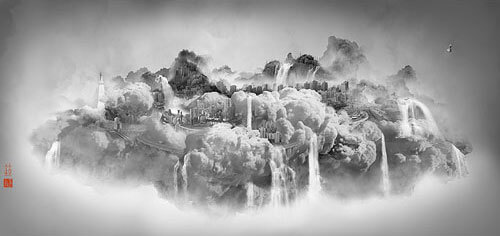Yang Yongliang - Heavenly City - 06, 2008 ©Yang Yongliang / courtesy Galerie Paris-Beijing