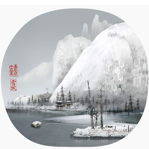 Yang Yongliang - Snow City - 05, 2009 ©Yang Yongliang / courtesy Galerie Paris-Beijing